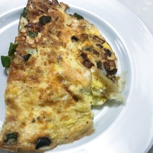 Ham Pepper and Onion Omelette